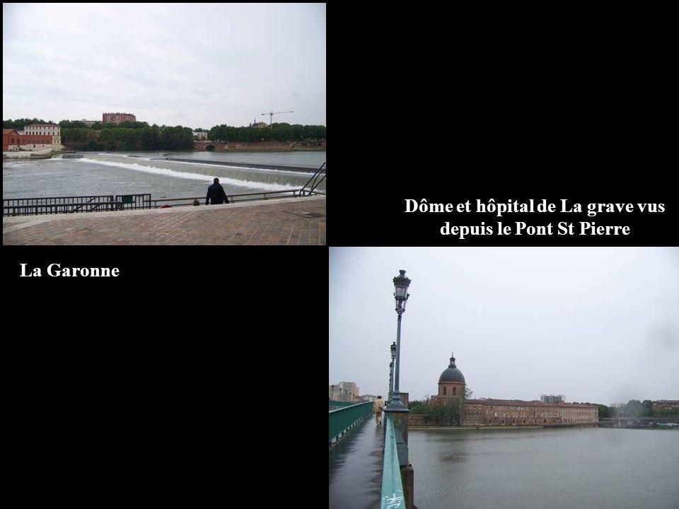 Dôme et hôpital de La grave vus depuis le Pont St Pierre