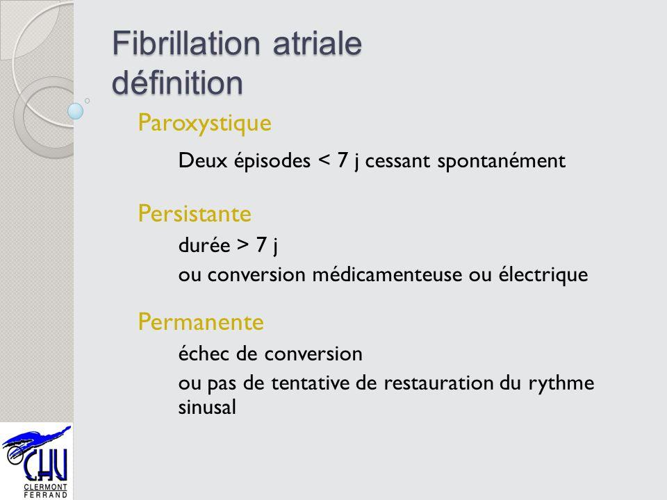 Fibrillation atriale définition