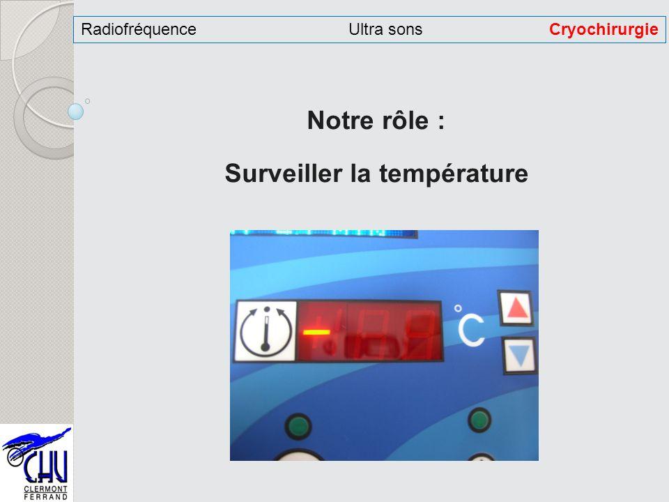 Notre rôle : Surveiller la température