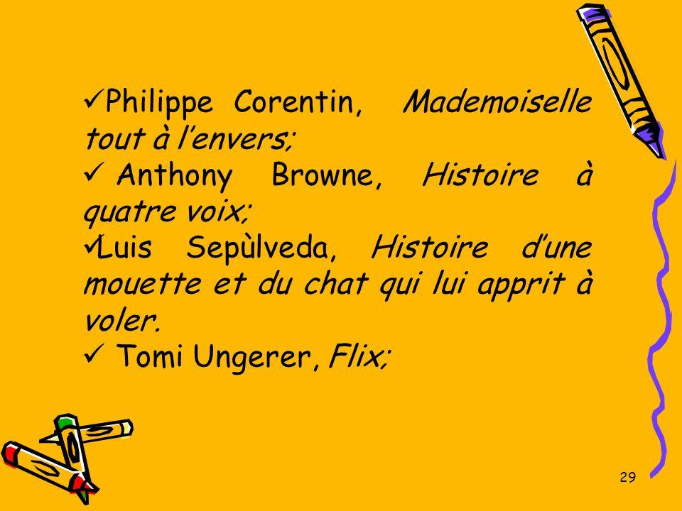 Philippe Corentin, Mademoiselle tout à l'envers;