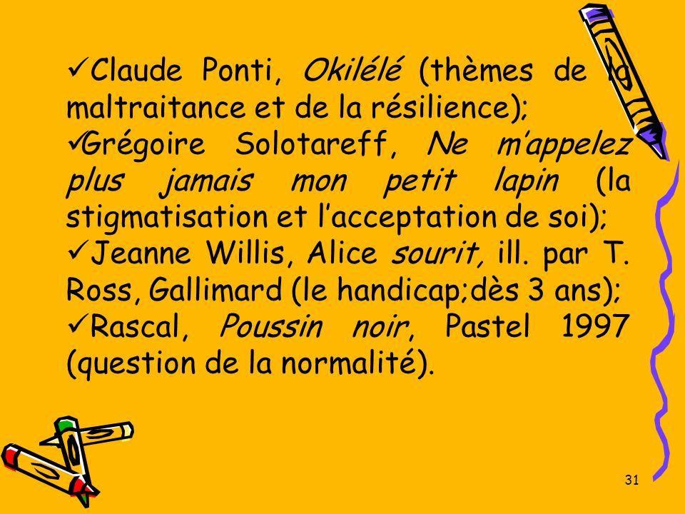 Claude Ponti, Okilélé (thèmes de la maltraitance et de la résilience);