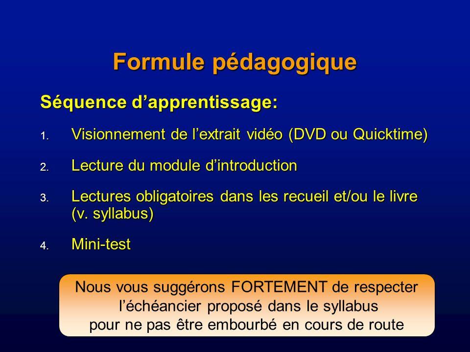 Formule pédagogique Séquence d'apprentissage: