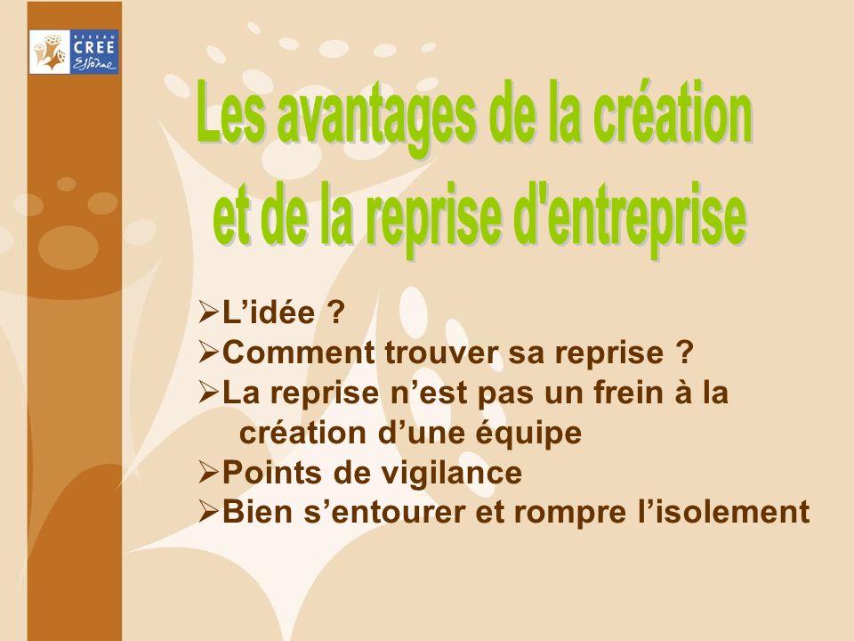 Les avantages de la création et de la reprise d entreprise