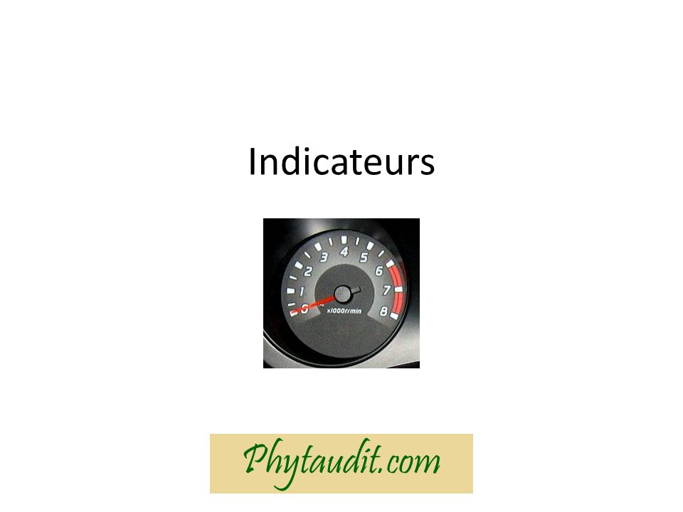 Indicateurs Phytaudit.com