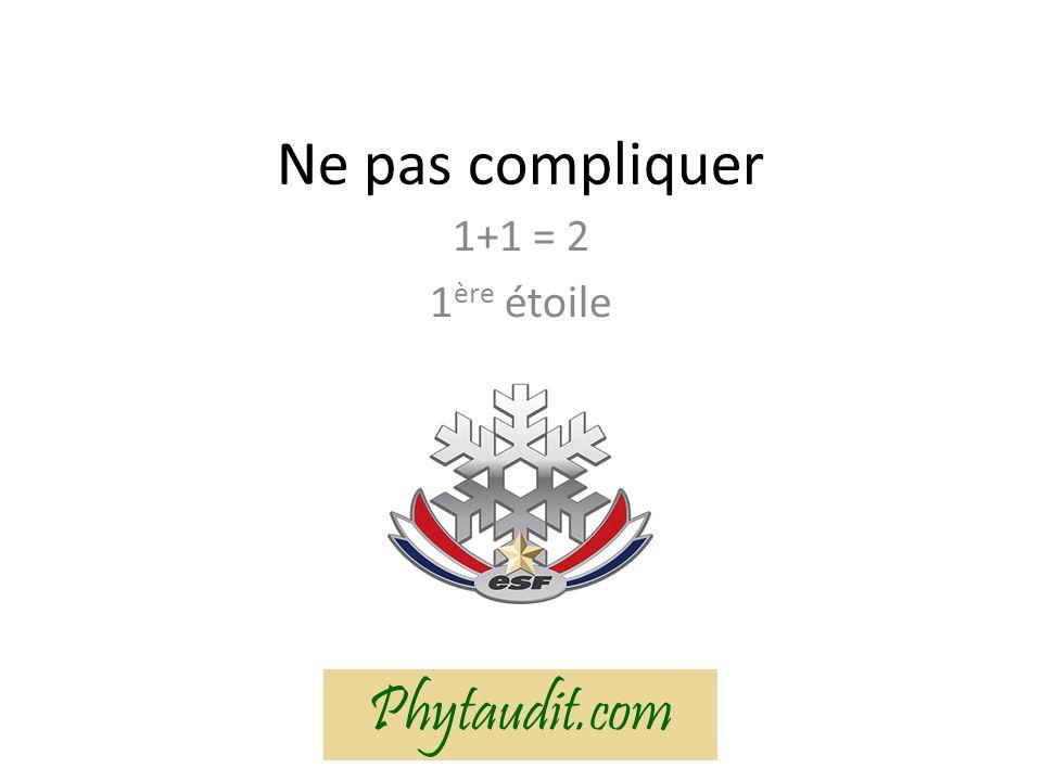Ne pas compliquer 1+1 = 2 1ère étoile Phytaudit.com