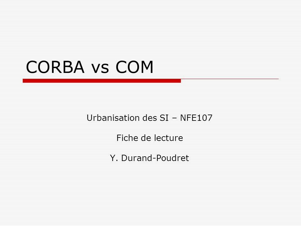 Urbanisation des SI – NFE107 Fiche de lecture Y. Durand-Poudret