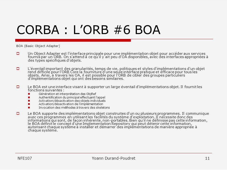 CORBA : L'ORB #6 BOA NFE107 Yoann Durand-Poudret