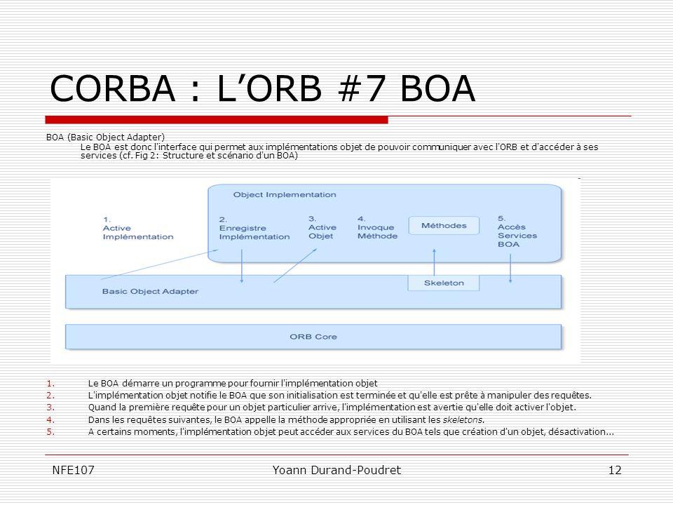 CORBA : L'ORB #7 BOA NFE107 Yoann Durand-Poudret