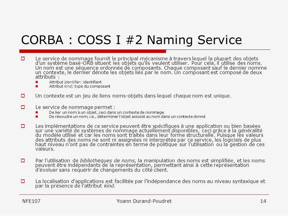 CORBA : COSS I #2 Naming Service