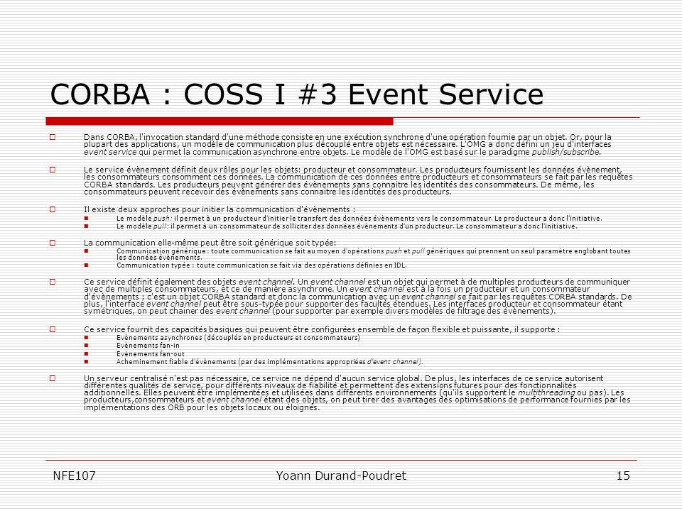 CORBA : COSS I #3 Event Service