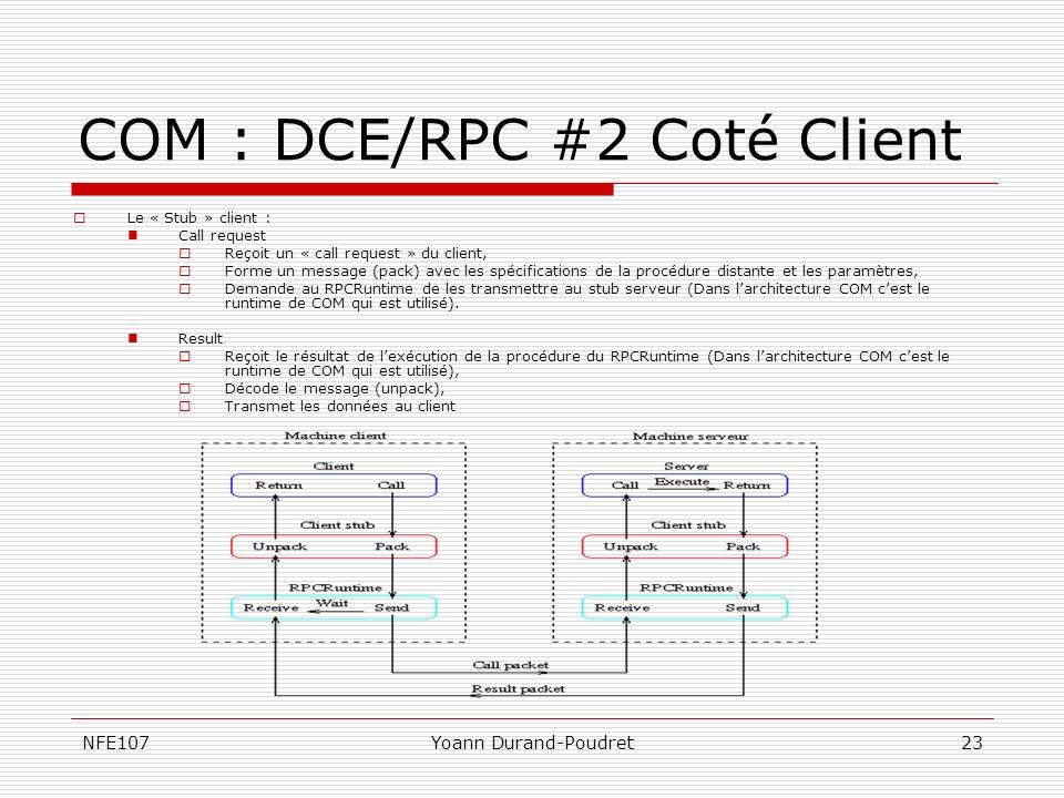 COM : DCE/RPC #2 Coté Client