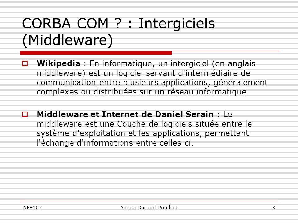 CORBA COM : Intergiciels (Middleware)