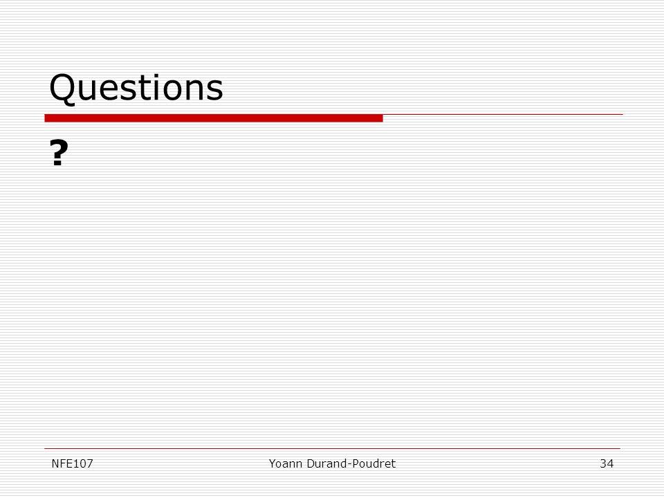 Questions NFE107 Yoann Durand-Poudret