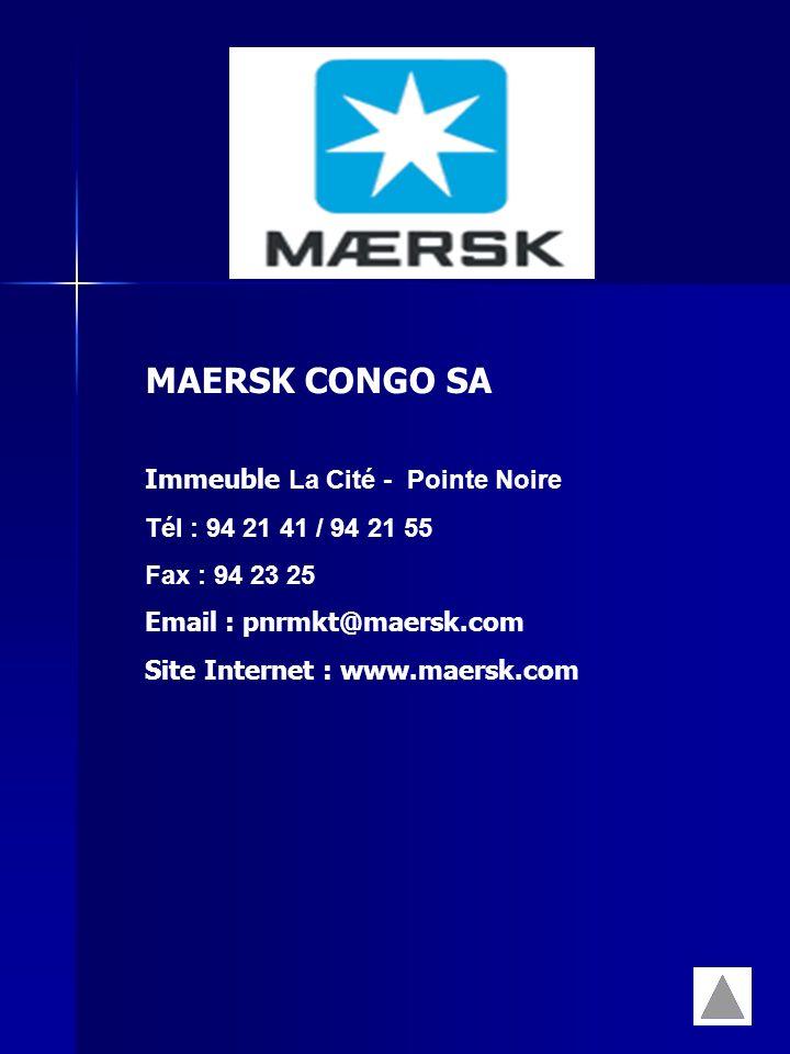 MAERSK CONGO SA Immeuble La Cité - Pointe Noire