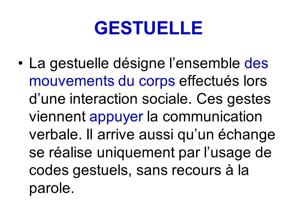 GESTUELLE
