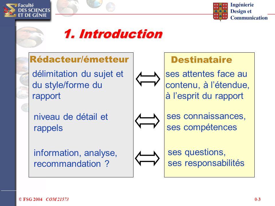 1. Introduction Rédacteur/émetteur Destinataire