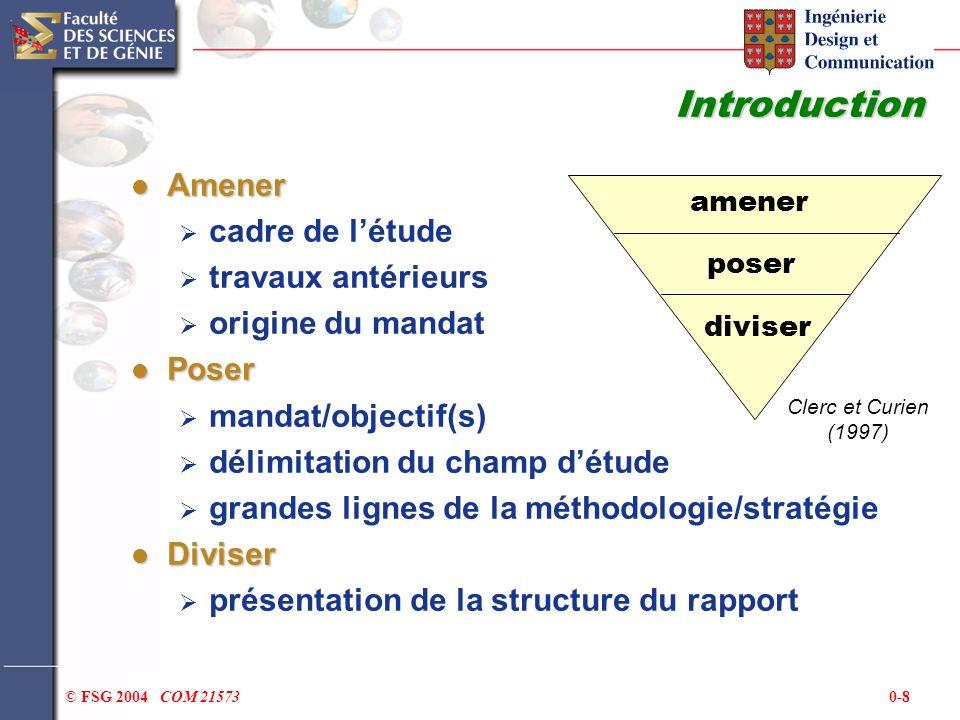 Introduction Amener cadre de l'étude travaux antérieurs