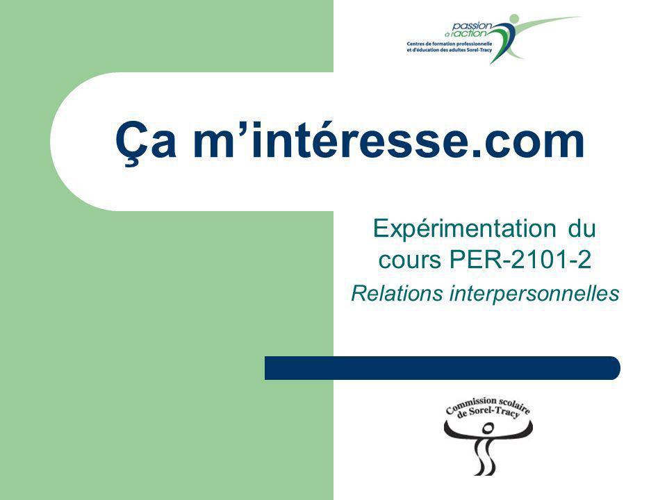 Expérimentation du cours PER-2101-2 Relations interpersonnelles