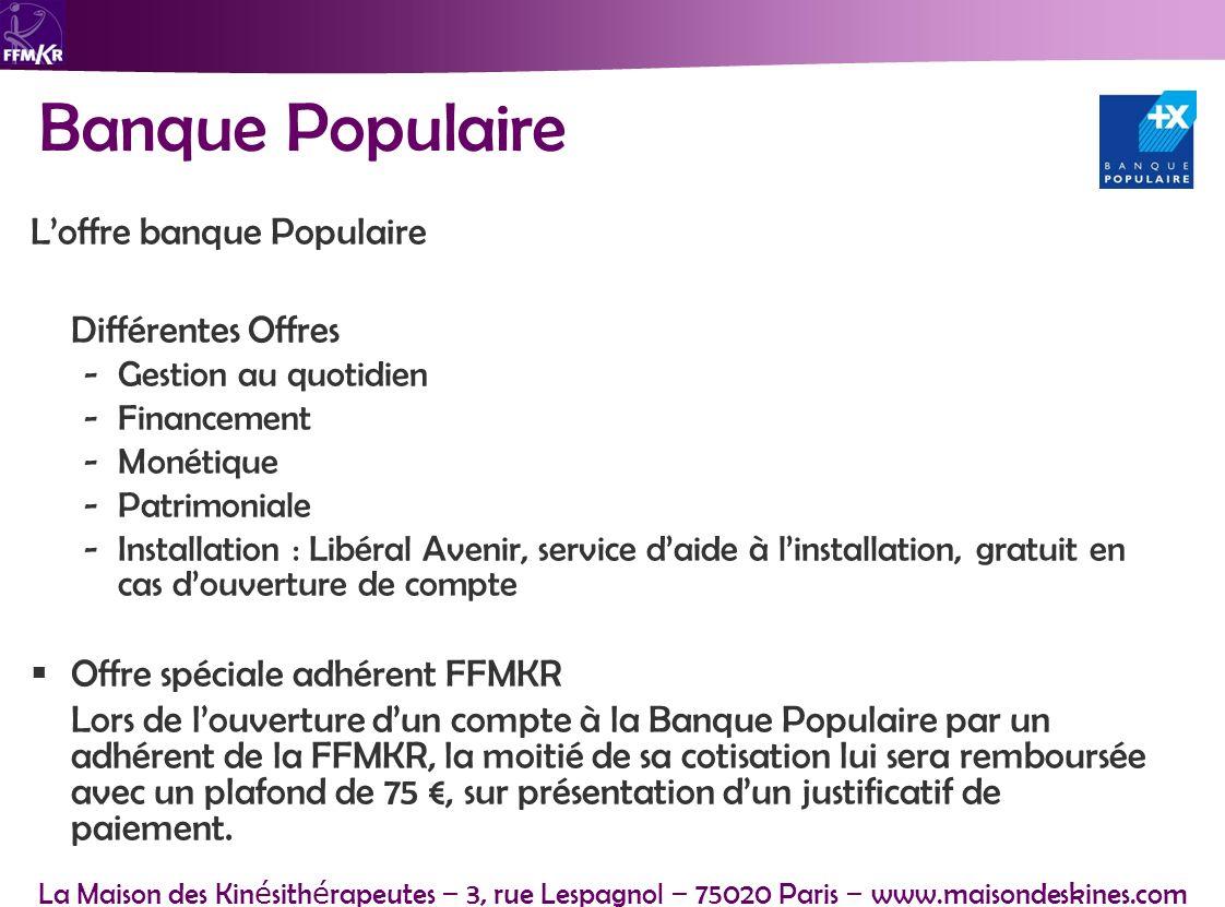 Banque Populaire L'offre banque Populaire