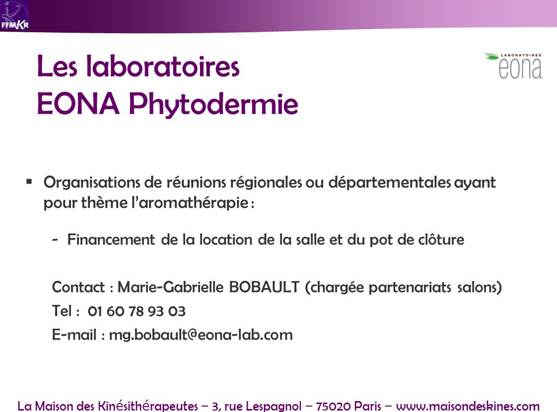 Les laboratoires EONA Phytodermie