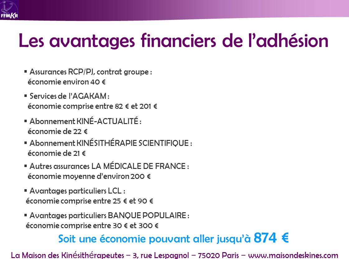Les avantages financiers de l'adhésion