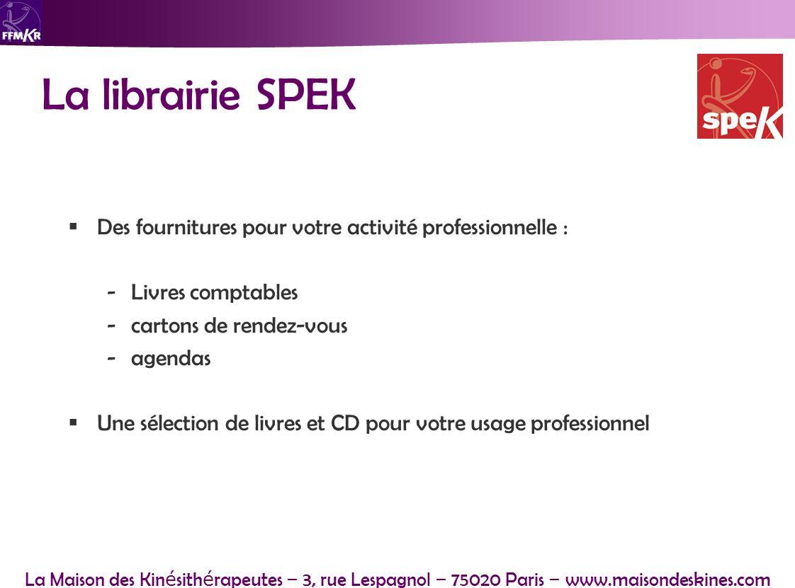 La librairie SPEK Des fournitures pour votre activité professionnelle : Livres comptables. cartons de rendez-vous.