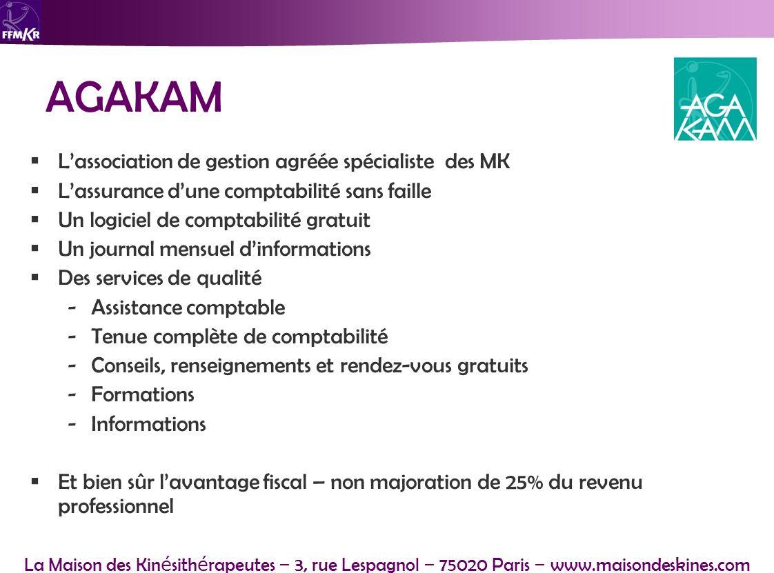 AGAKAM L'association de gestion agréée spécialiste des MK