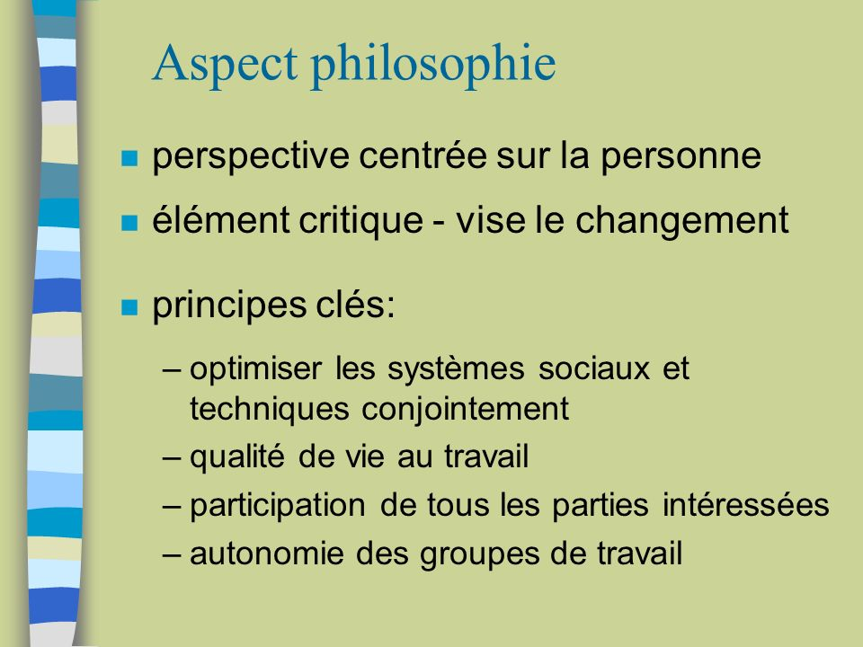 Aspect philosophie perspective centrée sur la personne