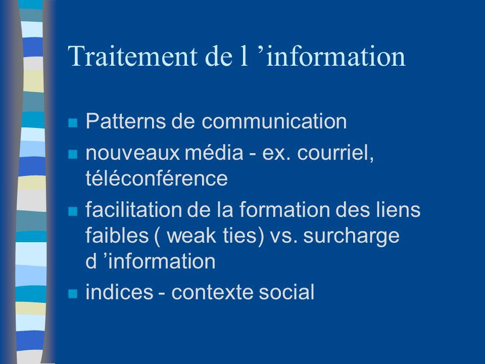 Traitement de l 'information