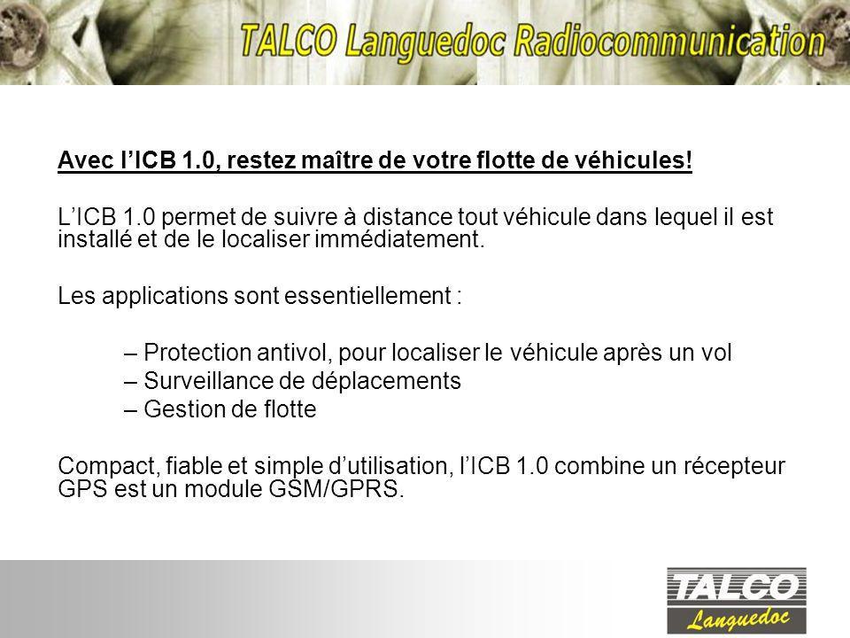 Avec l'ICB 1.0, restez maître de votre flotte de véhicules!
