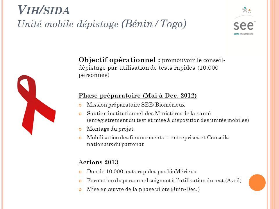 Vih/sida Unité mobile dépistage (Bénin/Togo)