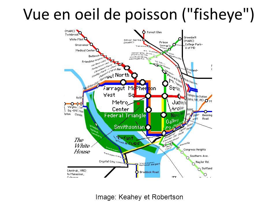 Vue en oeil de poisson ( fisheye )