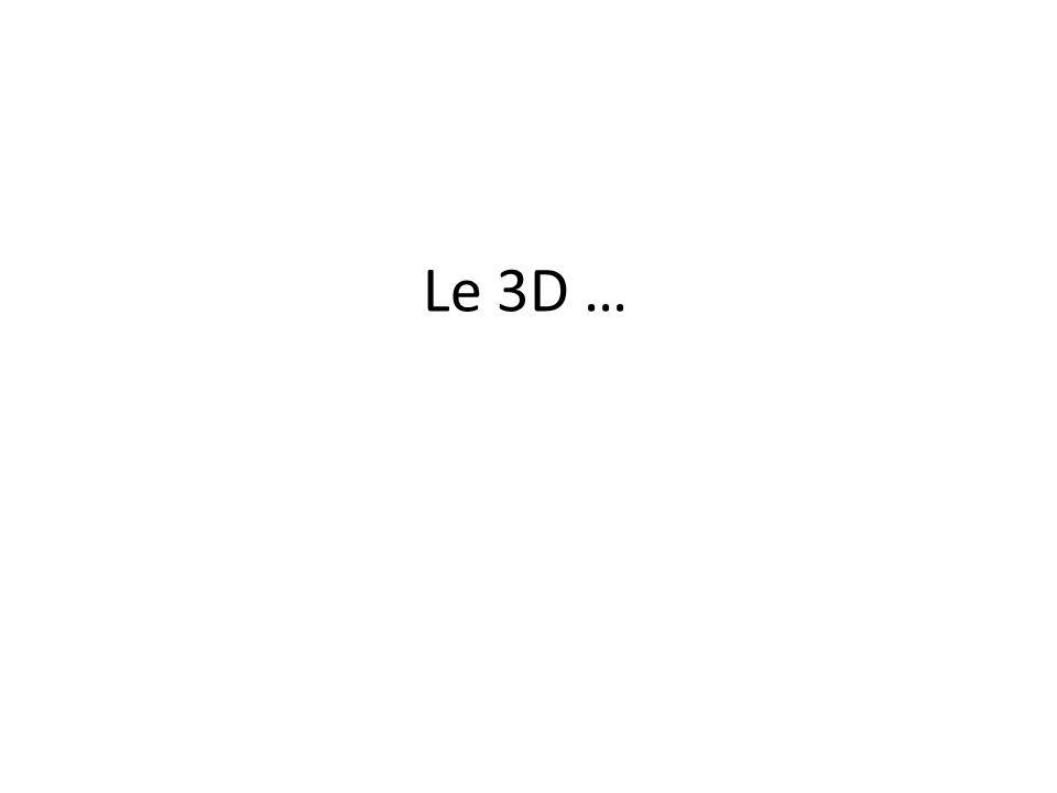 Le 3D …