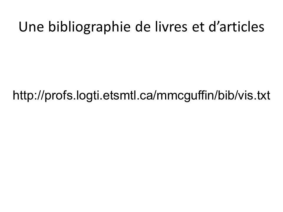 Une bibliographie de livres et d'articles