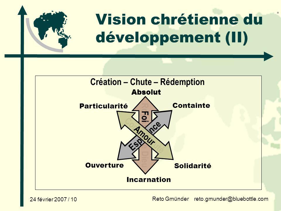Vision chrétienne du développement (II)