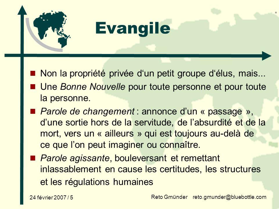 Evangile et développement