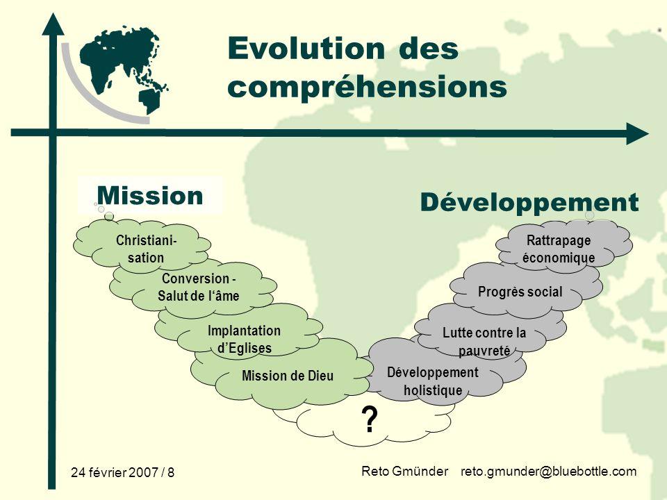 Evolution des compréhensions