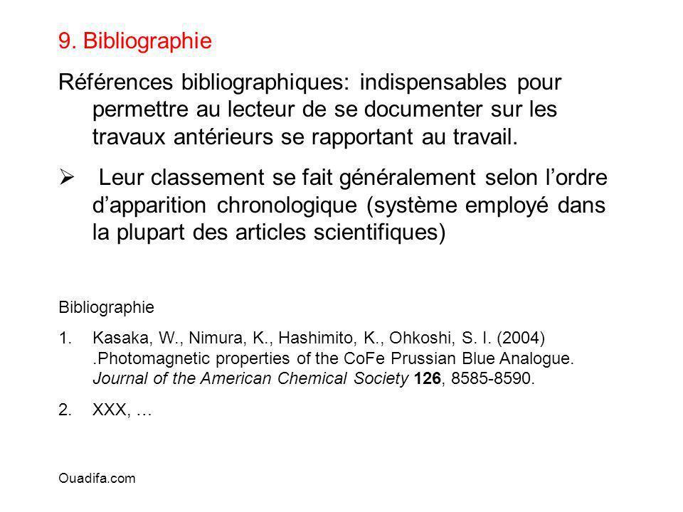 9. Bibliographie