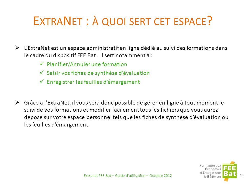 ExtraNet : à quoi sert cet espace