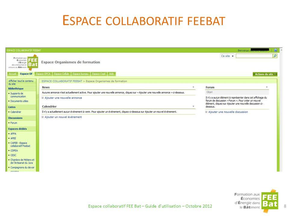 Espace collaboratif feebat