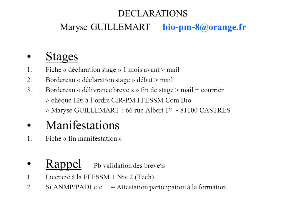 Maryse GUILLEMART bio-pm-8@orange.fr
