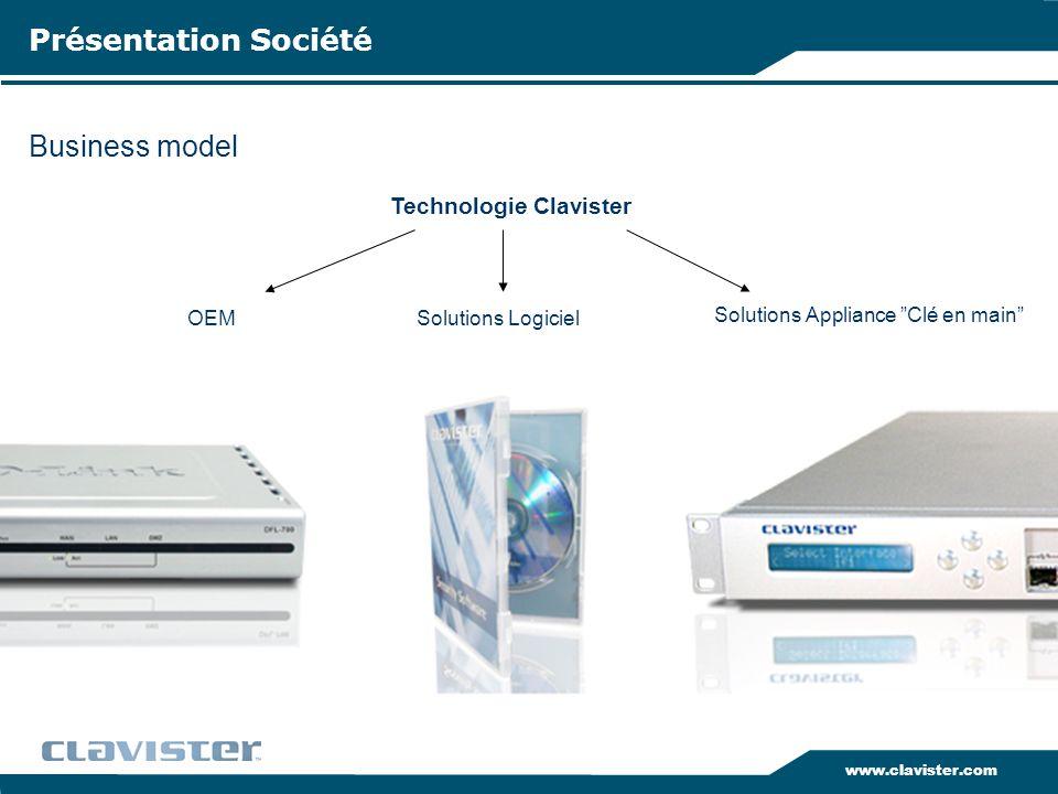Présentation Société Business model Technologie Clavister OEM