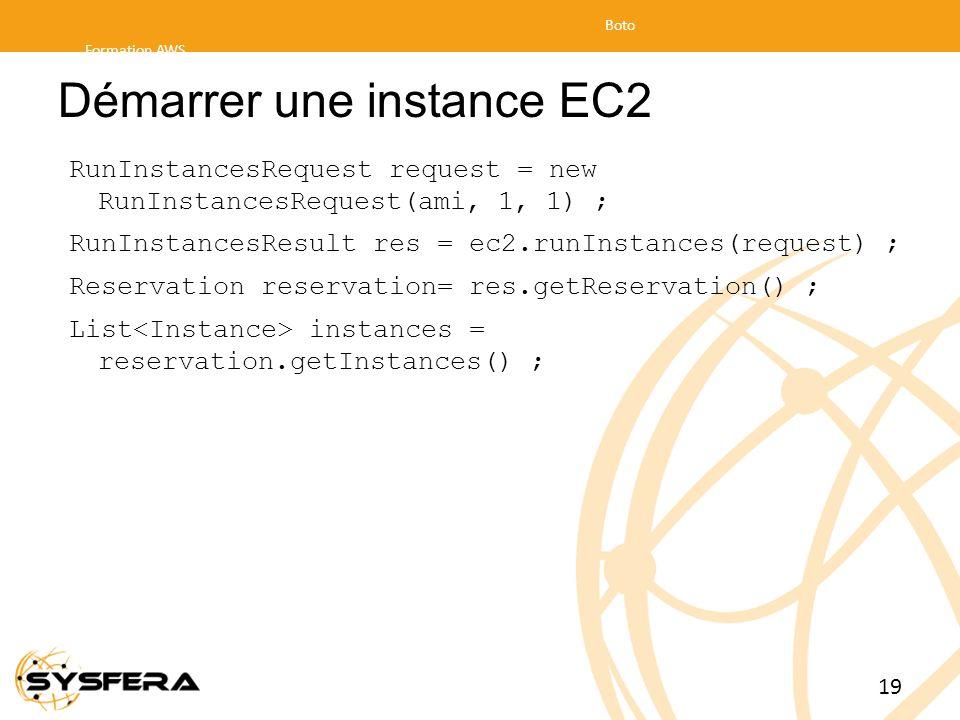 Démarrer une instance EC2