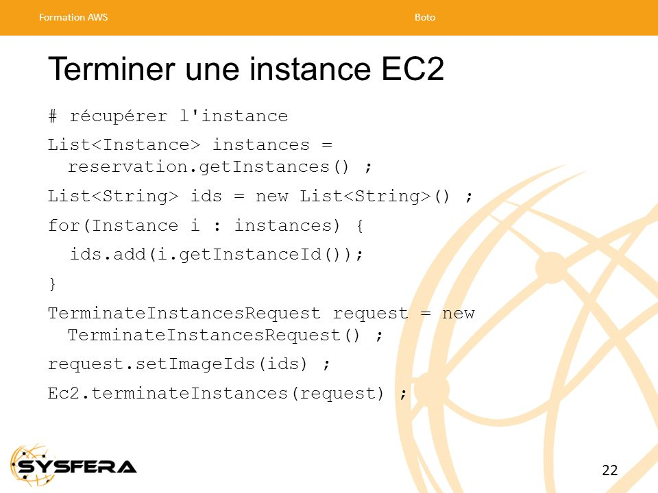 Terminer une instance EC2