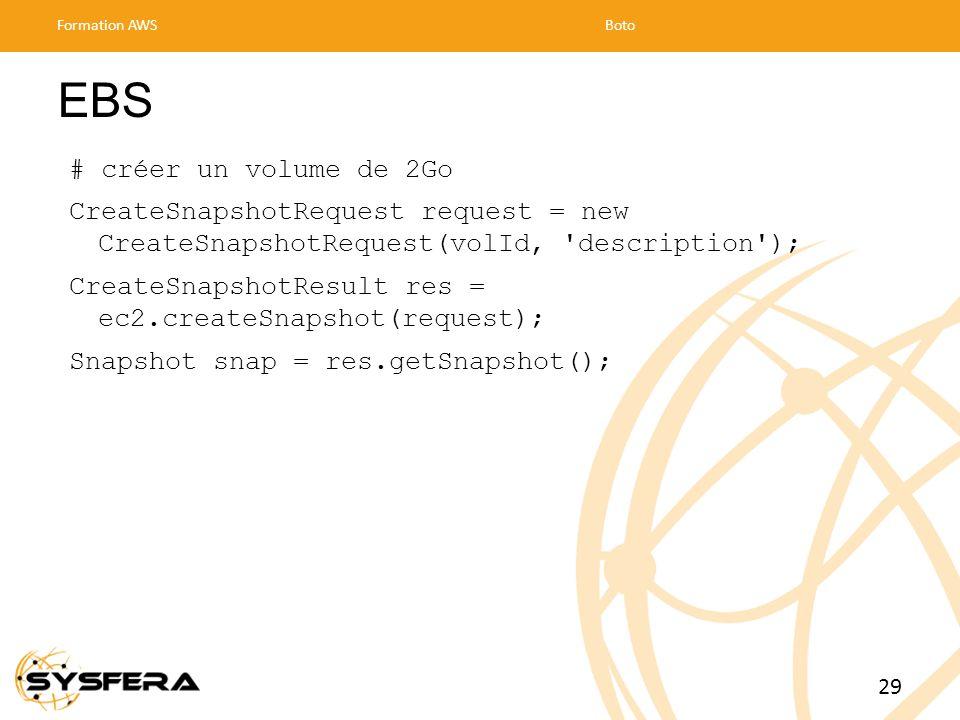 EBS # créer un volume de 2Go