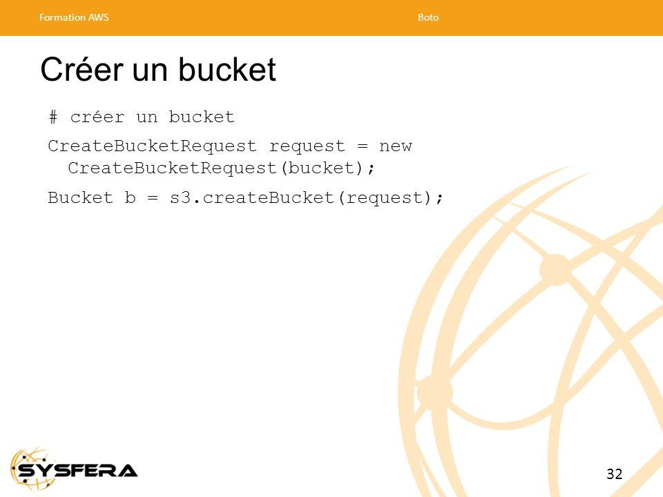 Créer un bucket # créer un bucket