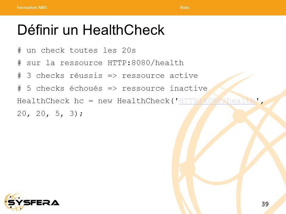 Définir un HealthCheck
