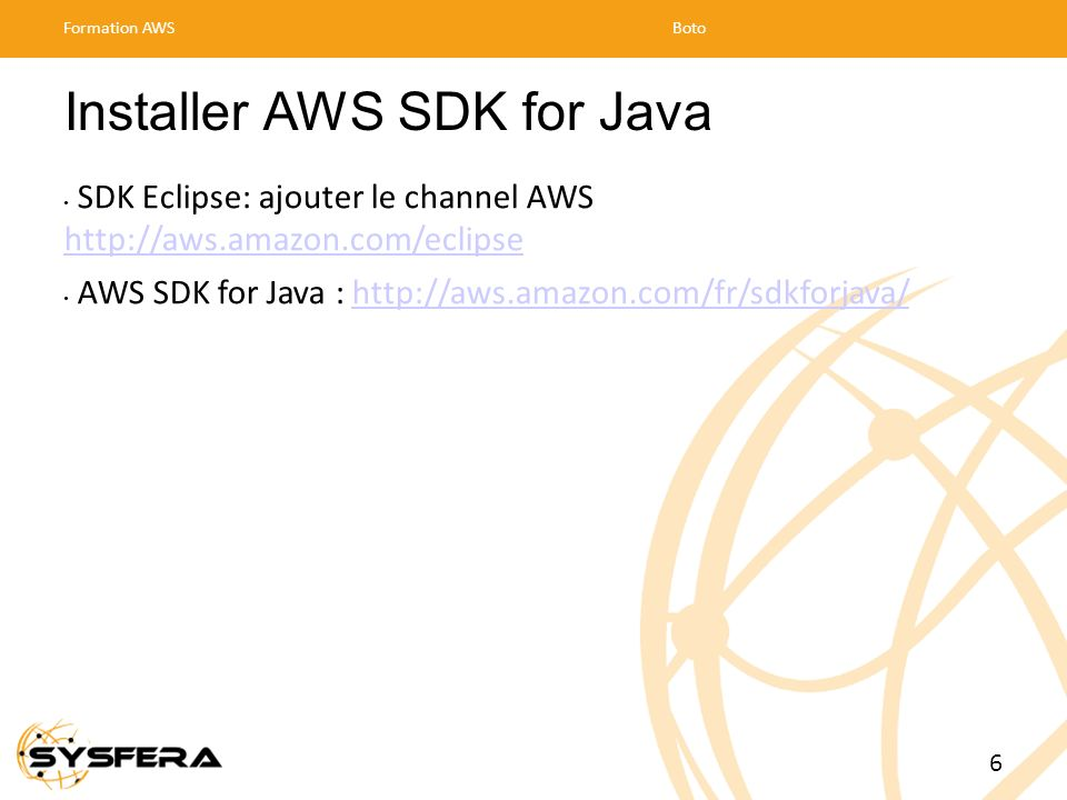 Installer AWS SDK for Java