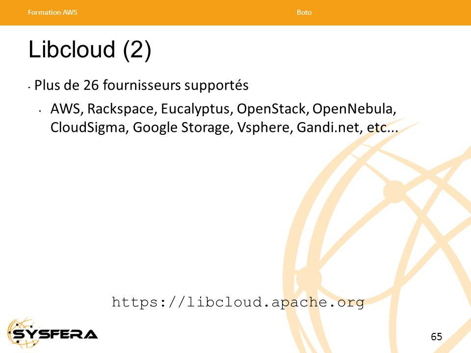 Libcloud (2) Plus de 26 fournisseurs supportés