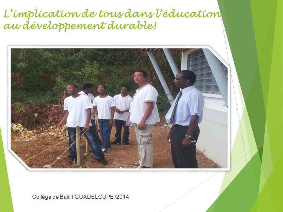 L'implication de tous dans l'éducation au développement durable!